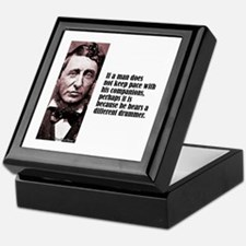 "Thoreau ""Different Drummer"" Keepsake Box"