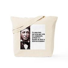 "Thoreau ""Different Drummer"" Tote Bag"