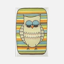 Peace Out Owl Rectangle Magnet