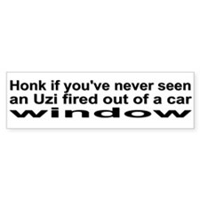 Uzi bumper sticker