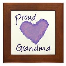Proud Grandma Framed Tile