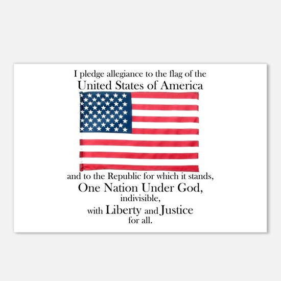Pledge of Allegiance Postcards (Package of 8)