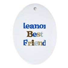 Eleanor's Best Friend Oval Ornament