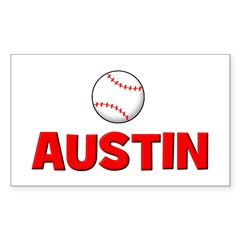 Baseball - Austin Rectangle Decal