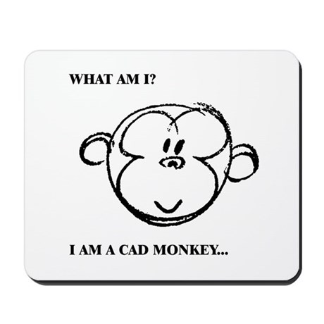 Cad Monkey 01 by bugawuga Mousepad