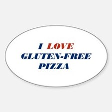 I Love Gluten-Free Pizza Oval Decal