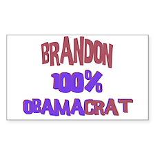 Brandon - 100% Obamacrat Rectangle Decal