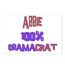Abbie - 100% Obamacrat Postcards (Package of 8)
