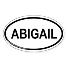 Abigail Oval Decal