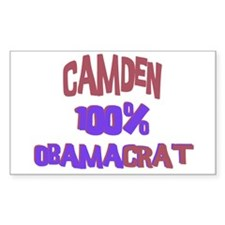 Camden - 100% Obamacrat Rectangle Decal