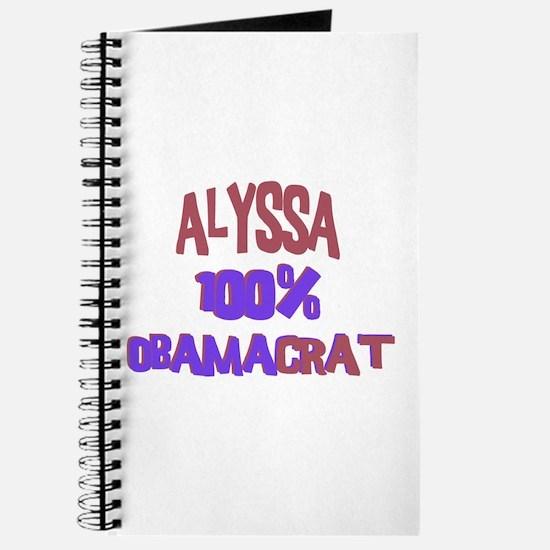 Alyssa - 100% Obamacrat Journal