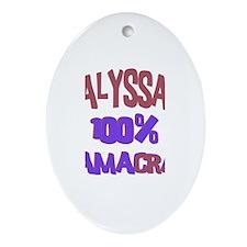 Alyssa - 100% Obamacrat Oval Ornament