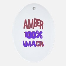 Amber - 100% Obamacrat Oval Ornament