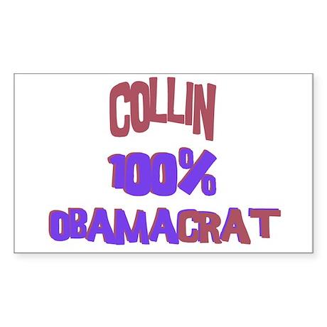 Collin - 100% Obamacrat Rectangle Sticker