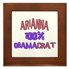 Arianna - 100% Obamacrat Framed Tile