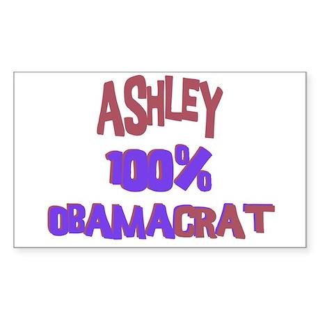 Ashley - 100% Obamacrat Rectangle Sticker