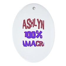 Ashlyn - 100% Obamacrat Oval Ornament