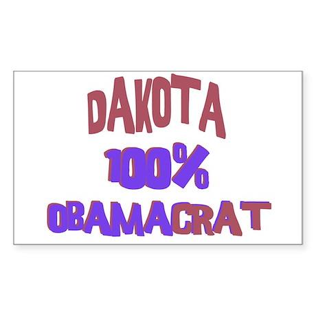 Dakota - 100% Obamacrat Rectangle Sticker