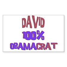 David - 100% Obamacrat Rectangle Decal