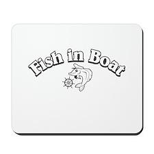 1220 Fish in Boat Mousepad