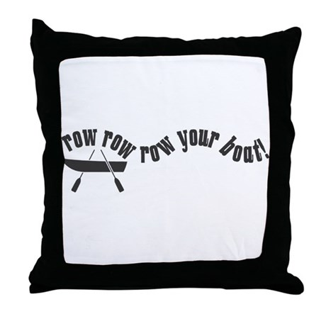 1514 Row Row your Boat Throw Pillow