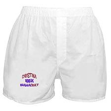 Christina - 100% Obamacrat Boxer Shorts