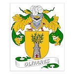 Olivares Family Crest Small Poster