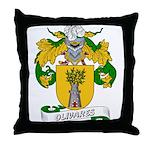 Olivares Family Crest Throw Pillow