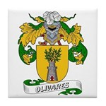 Olivares Family Crest Tile Coaster