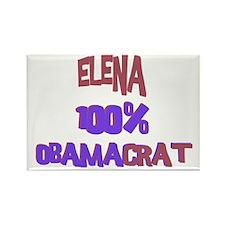 Elena - 100% Obamacrat Rectangle Magnet