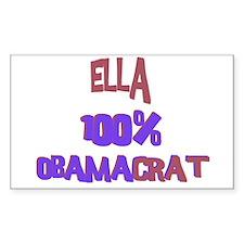 Ella - 100% Obamacrat Rectangle Decal