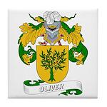 Oliver Family Crest Tile Coaster