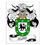 Olmo Family Crest Small Poster