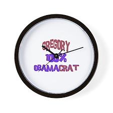Gregory - 100% Obamacrat Wall Clock