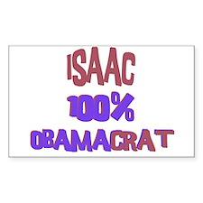 Isaac - 100% Obamacrat Rectangle Decal