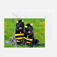 Bees in Garden Greeting Card