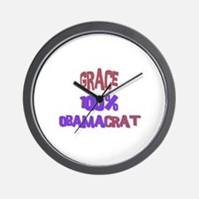 Grace - 100% Obamacrat Wall Clock
