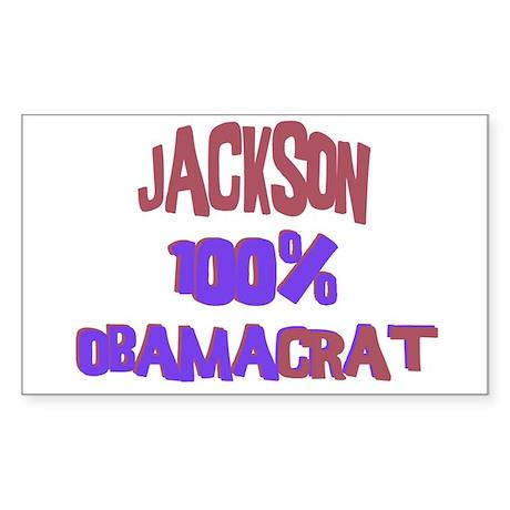 Jackson - 100% Obamacrat Rectangle Sticker