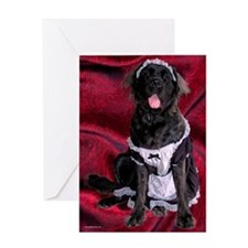 French Maid Mastiff Greeting Card