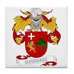 Ordonez Family Crest Tile Coaster