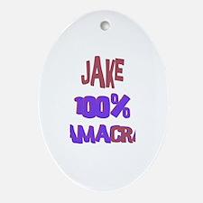 Jake - 100% Obamacrat Oval Ornament