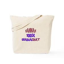 Hannah - 100% Obamacrat Tote Bag