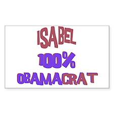 Isabel - 100% Obamacrat Rectangle Decal