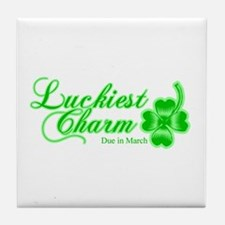 Lime Luckiest Charm Due In March Tile Coaster