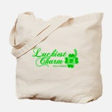 Lime Luckiest Charm Due In March Tote Bag