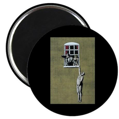 "Banksy graffiti art 2.25"" Magnet (10 pack)"