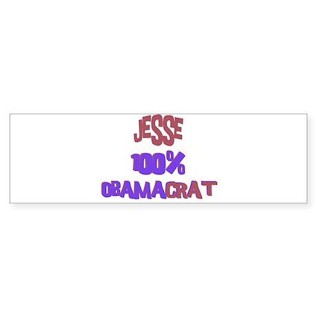 Jesse - 100% Obamacrat Bumper Sticker