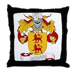 Osorio Family Crest Throw Pillow