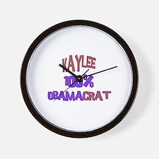 Kaylee - 100% Obamacrat Wall Clock