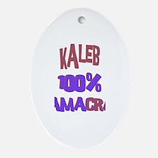 Kaleb - 100% Obamacrat Oval Ornament